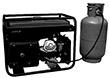 Возможность работы Huter DY3000L на газе