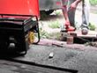 Бензиновый генератор Huter DY4000L в работе