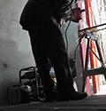Электрогенератор Huter DY5000L в работе